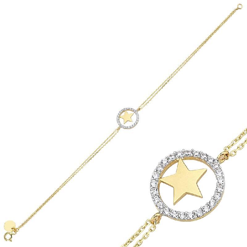 Altın Yıldız Figürlü Bileklik