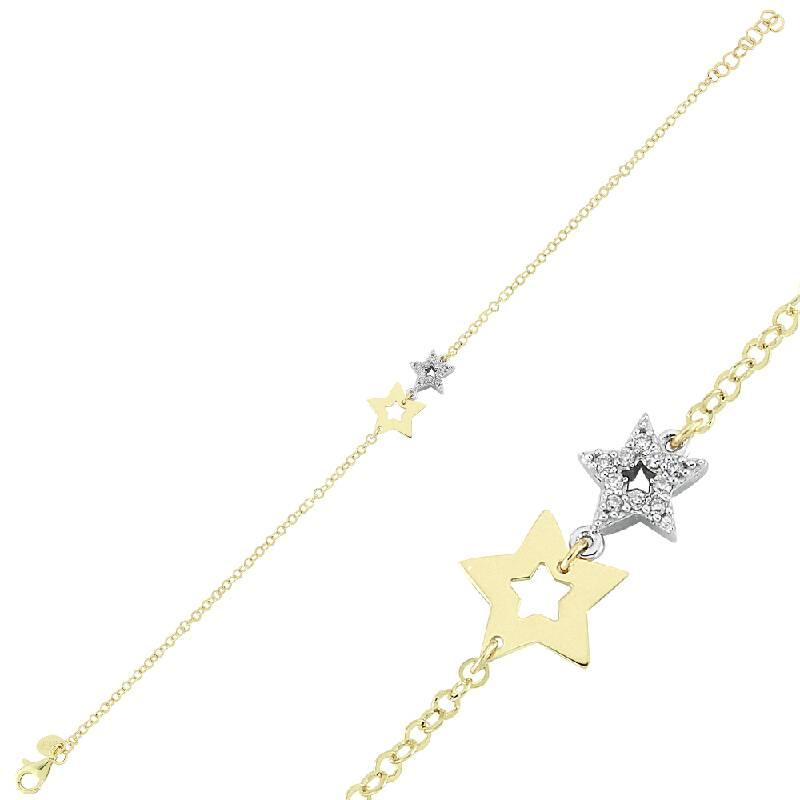 Yıldız Taşlı Altın Bileklik