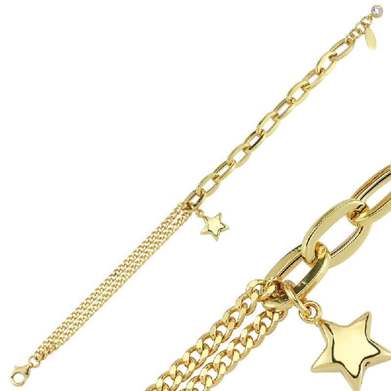 Yıldızlı Altın Bileklik