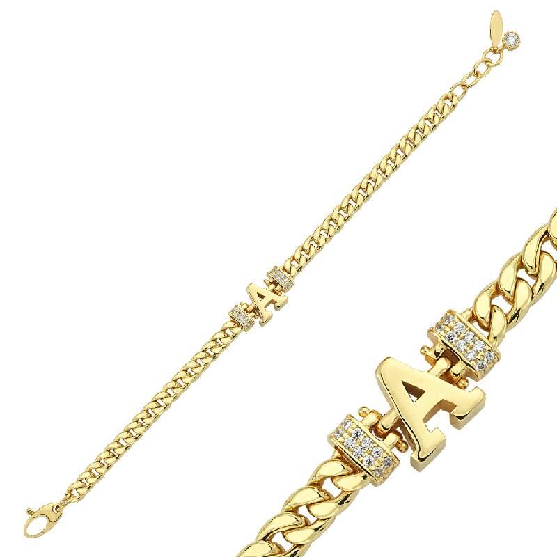 Altın Harf A Bileklik
