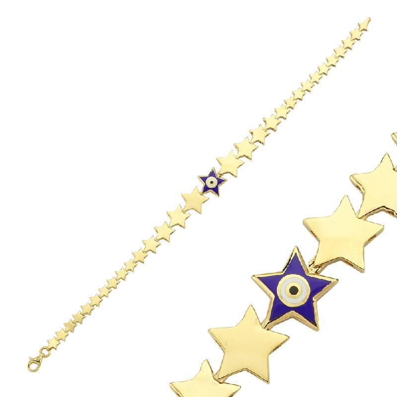 Yıldız Figürlü Altın Bileklik