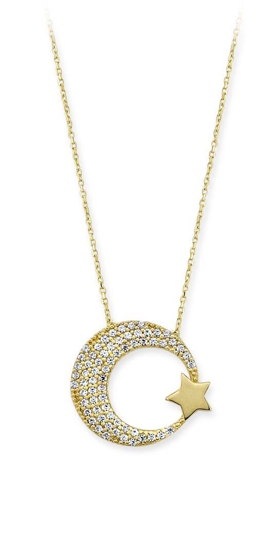 Altın Kolye Ay Yıldız