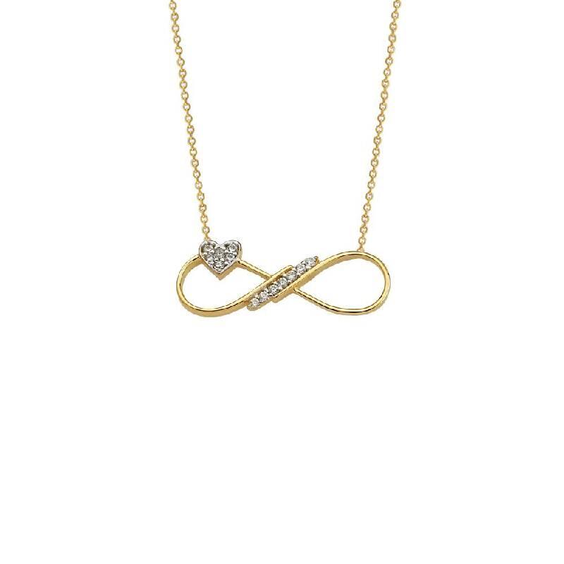 Kalp Sonsuzluk Altın Kolye-KL5309