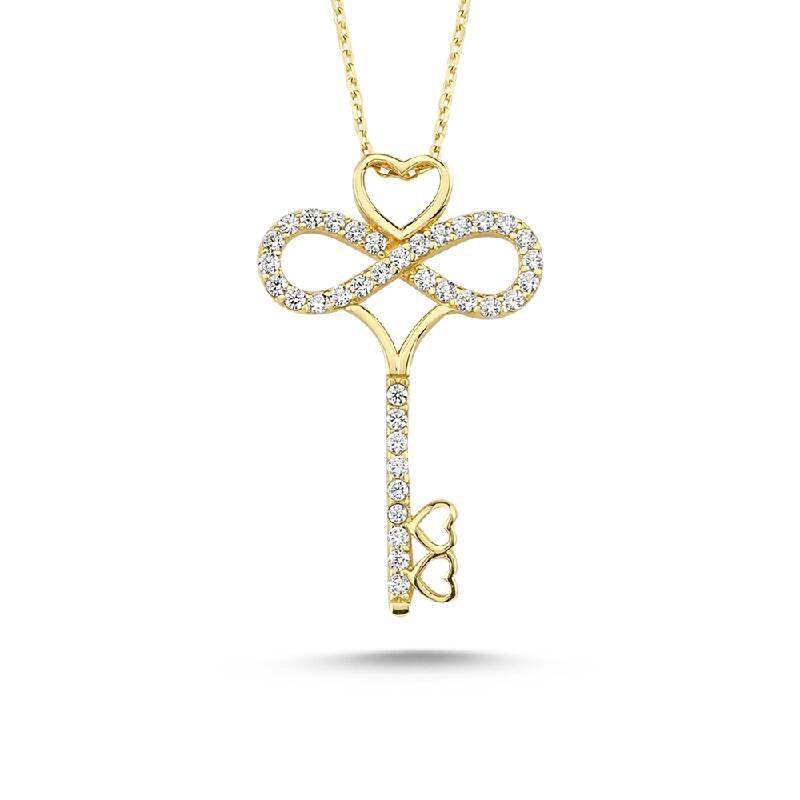 Sonsuzluk Anahtarı Altın Kolye