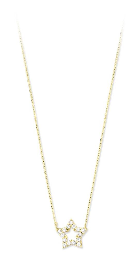 Taşlı Altın Kolye-KL6452