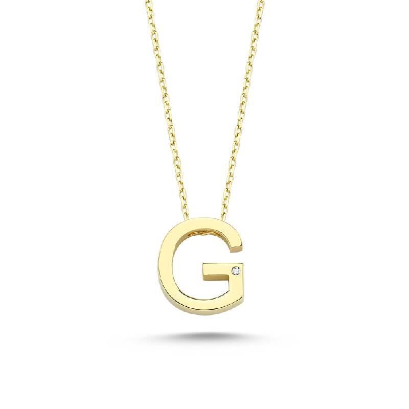 Altın G Harf Kolye