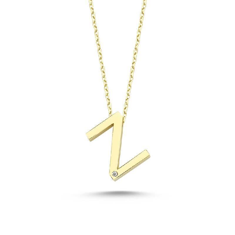Altın Z Harf Kolye
