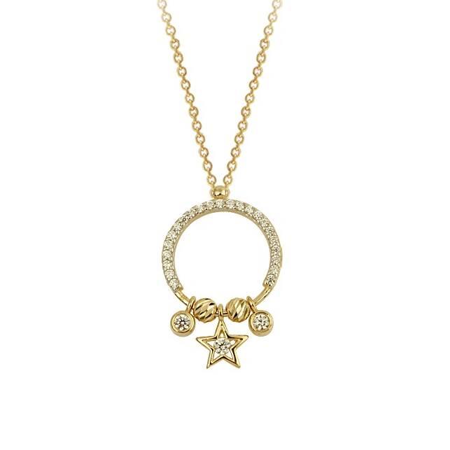 Altın Yıldız Figürlü Kolye