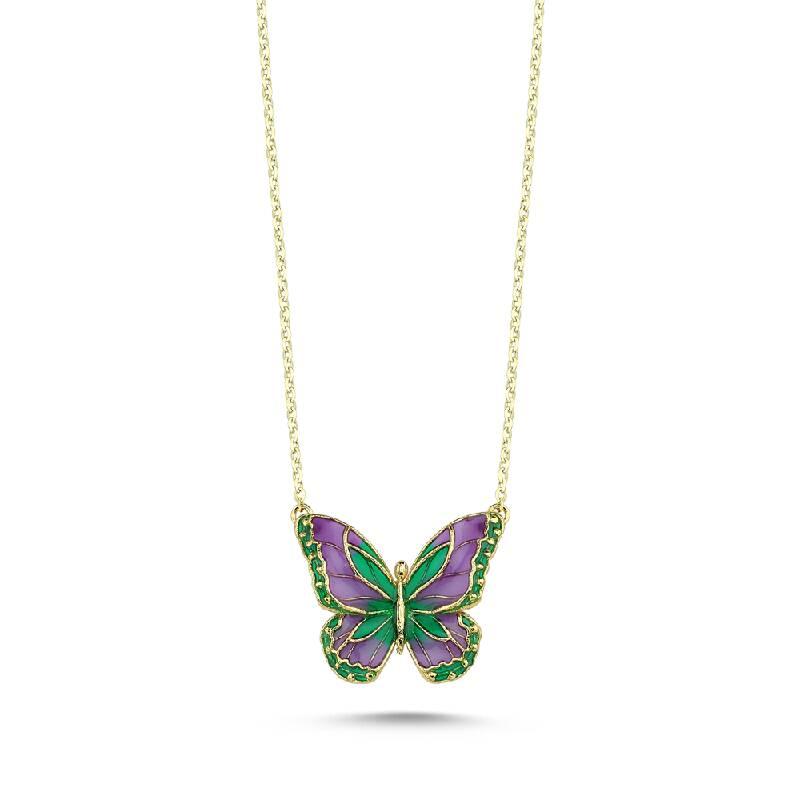 İtalyan Tasarım Altın Kelebek Kolye