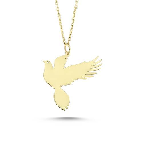 Altın Kuş Figürlü Kolye