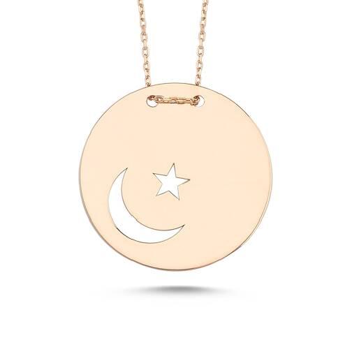 Ay Yıldız Altın Kolye