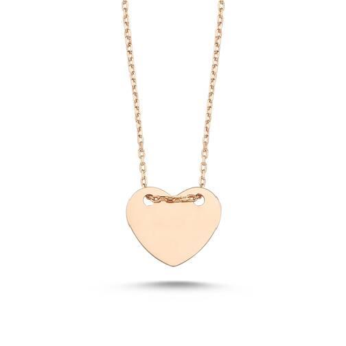 Altın Kalp Figürlü Kolye