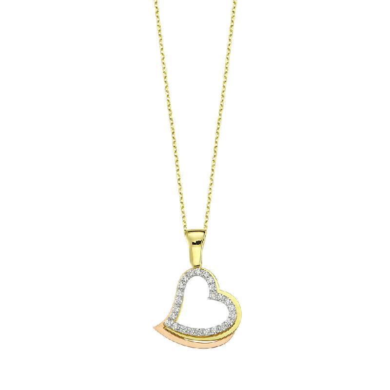 KL7310 Altın Kalp Kolye