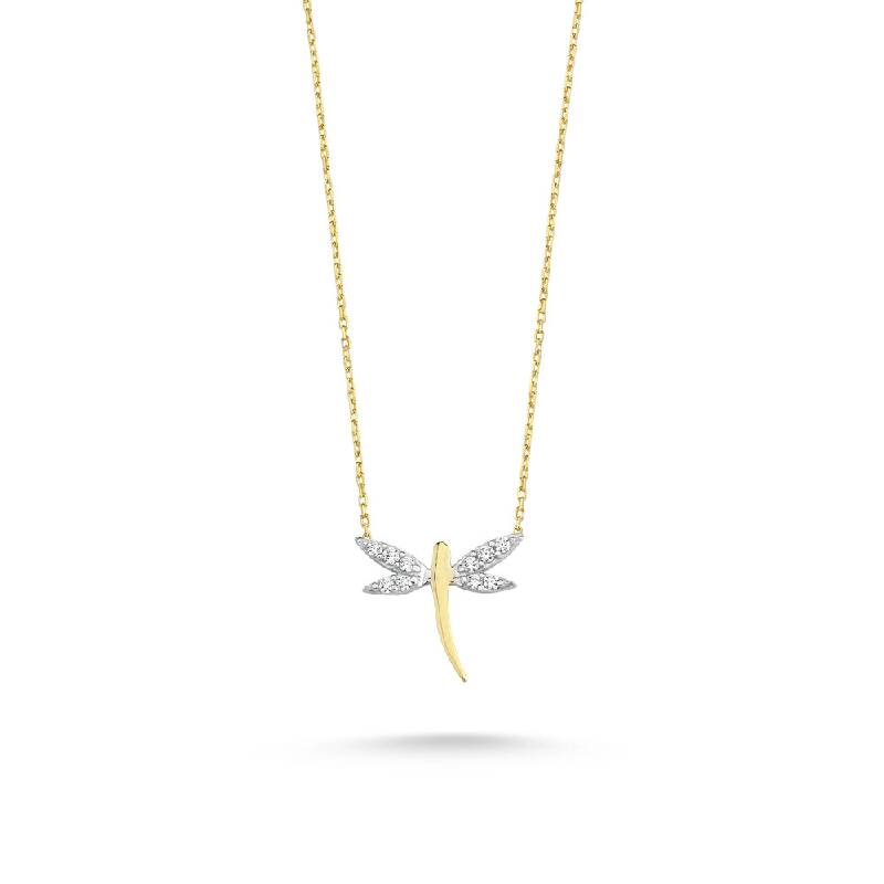 Taşlı Yusufçuk Altın Kolye-KL7323