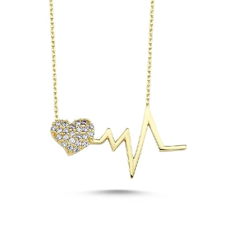Altın Kalp Atışı Kolye