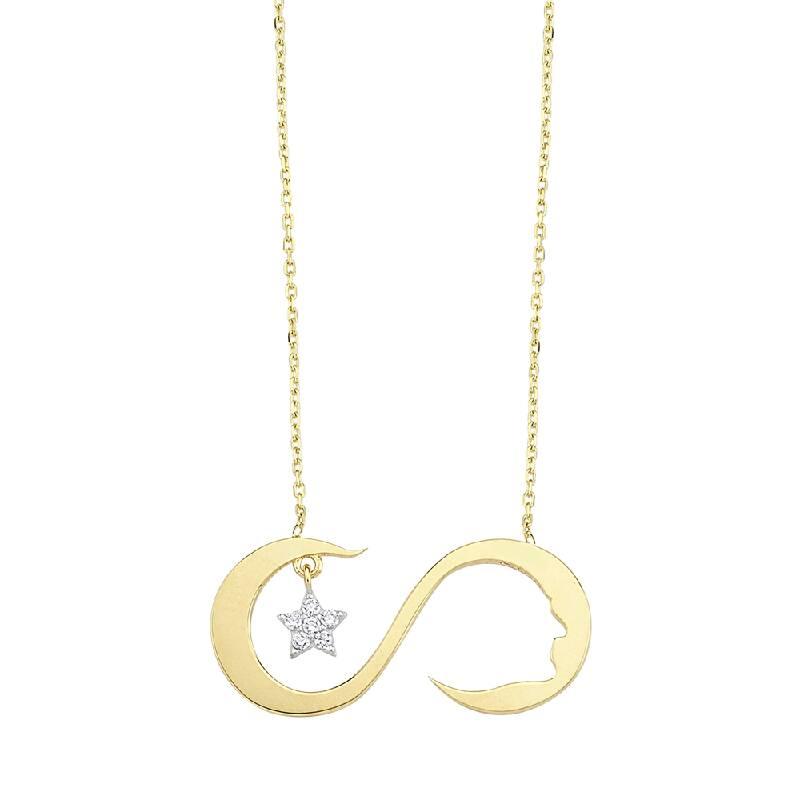 Yıldız Figürlü Altın Sonsuzluk Kolyesi