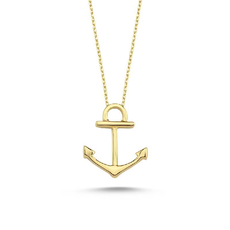 Gemi Çapası Altın Kolye