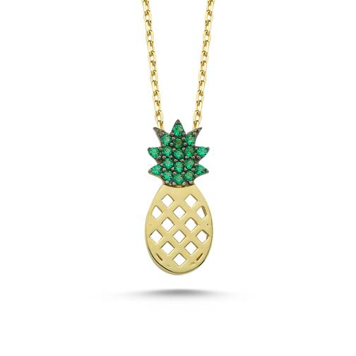 Altın Ananas Kolye