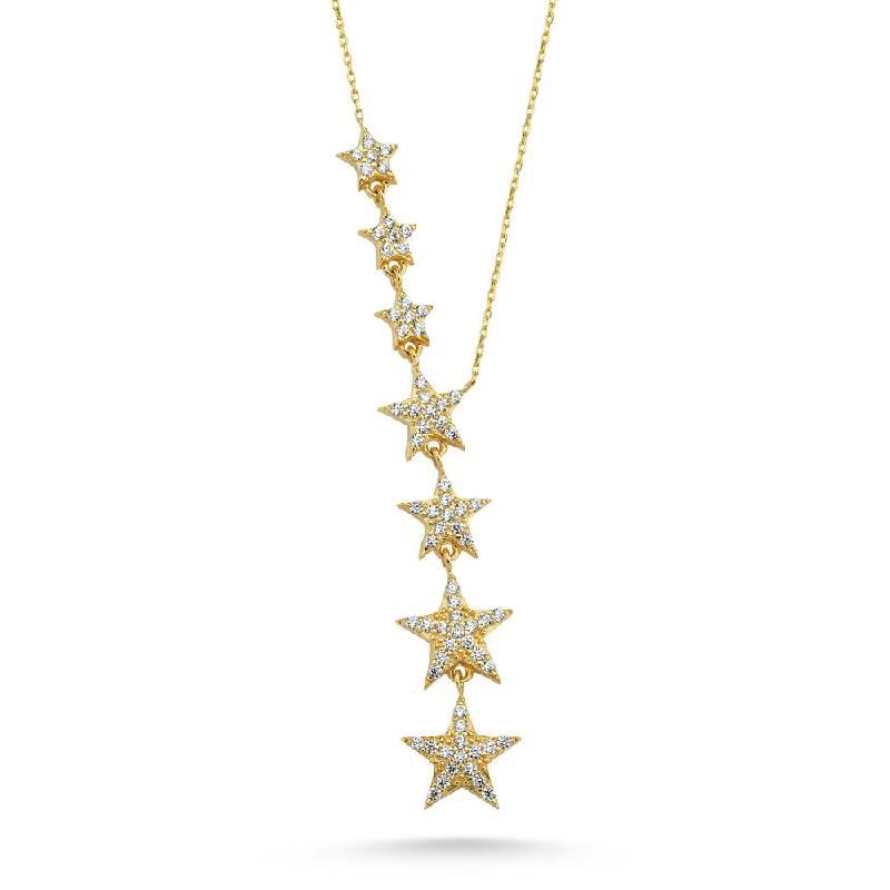 Yıldız Sıralı Altın Kolye