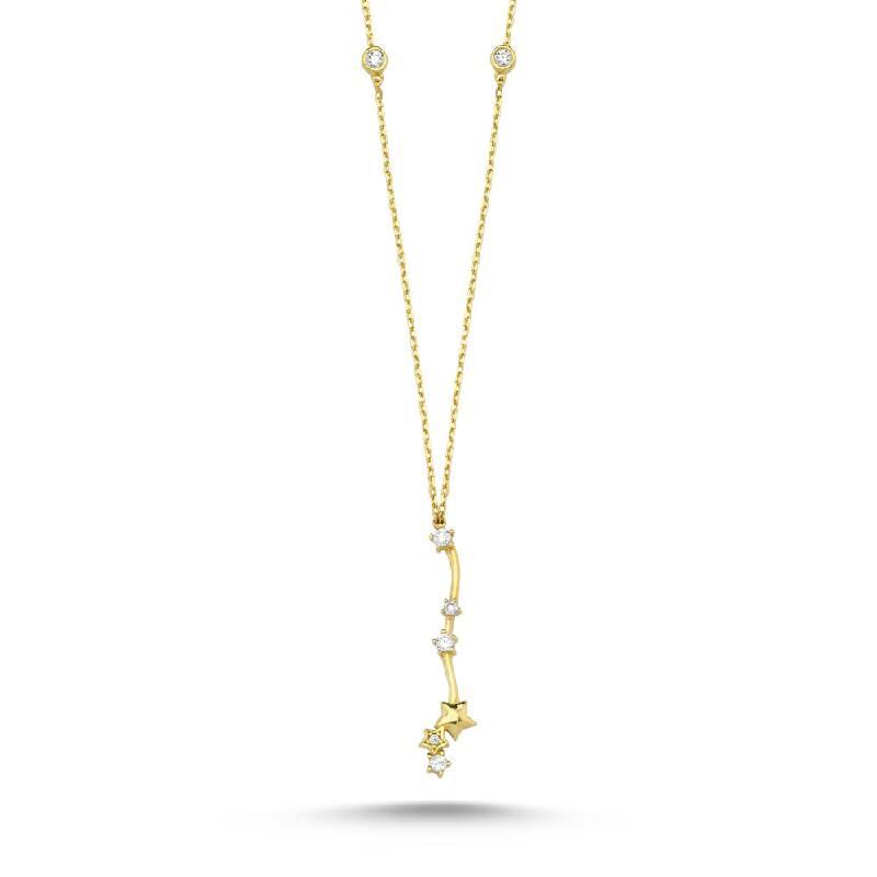 Taşlı Altın Kolye-KL8073