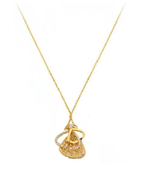 Taşlı Altın Kolye-KL8240
