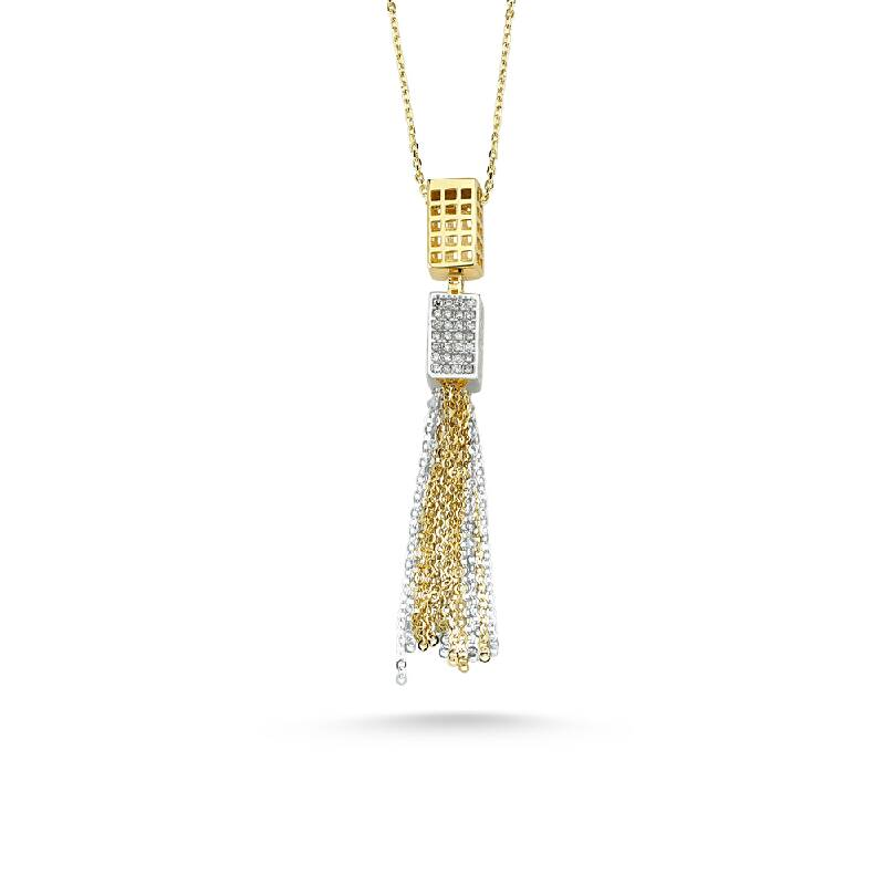 Taşlı Altın Kolye-KL8255