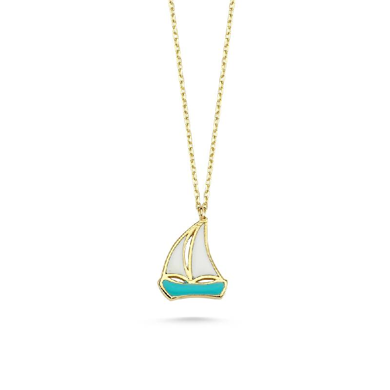 Yelkenli Altın Kolye-KL8315