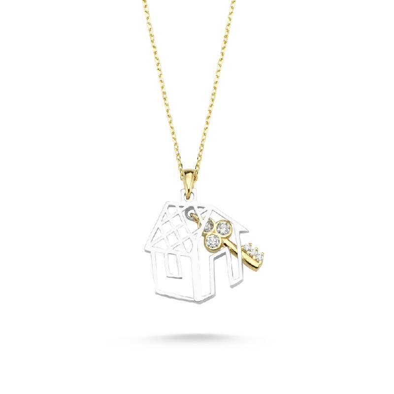 Ev Anahtar Altın Kolye