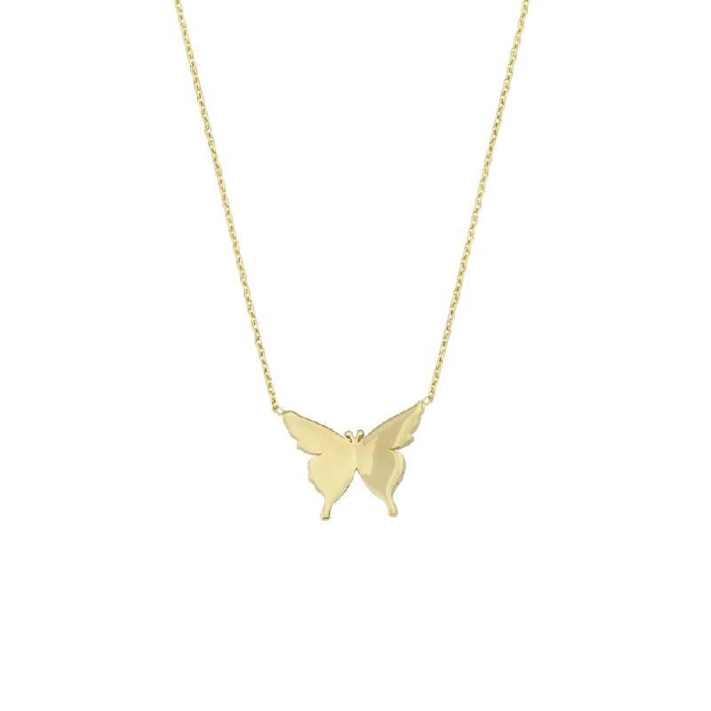 Kelebekli Altın Kolye