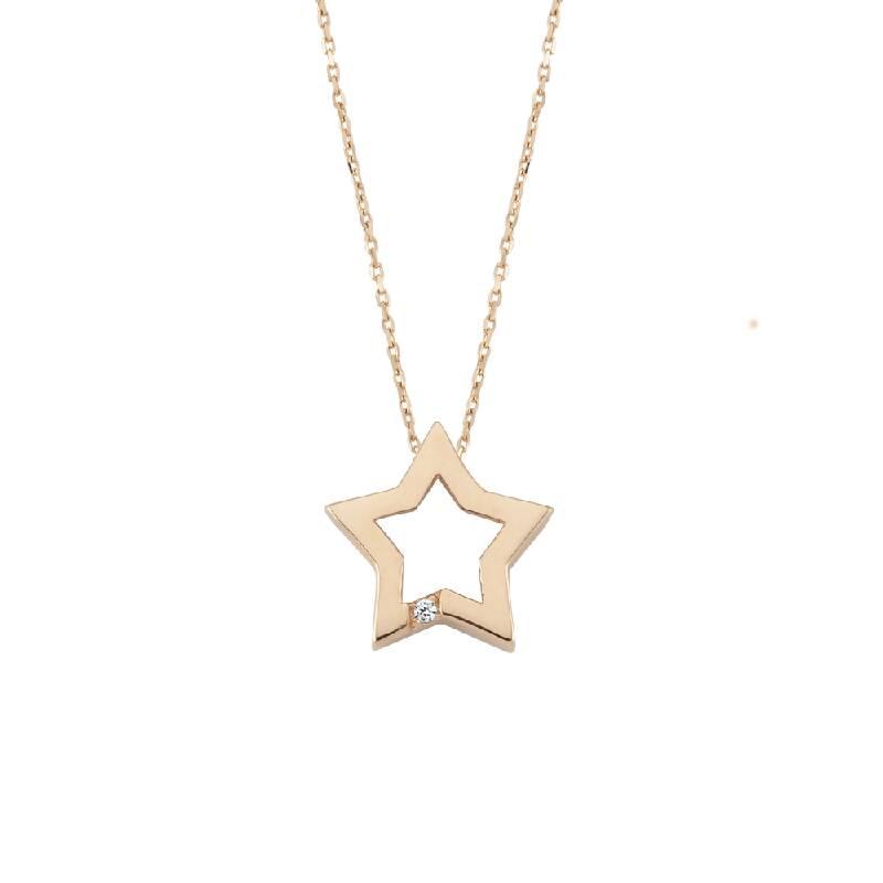 Yıldız Taşlı Altın Kolye