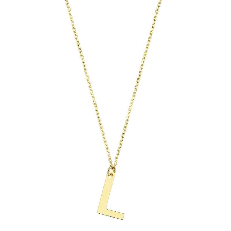 Altın L Harf Kolye
