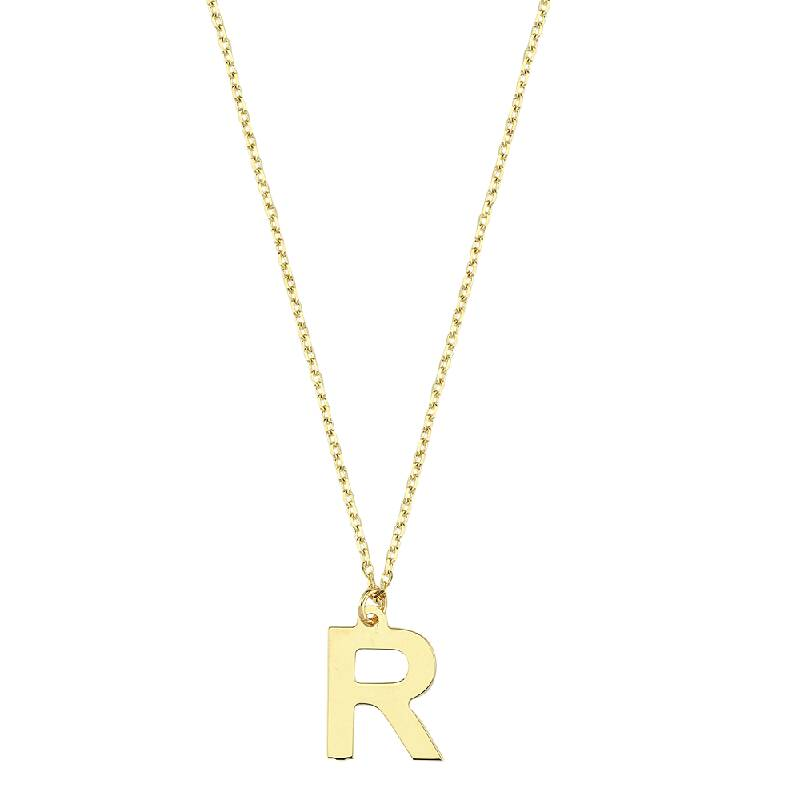 Altın R Harf Kolye