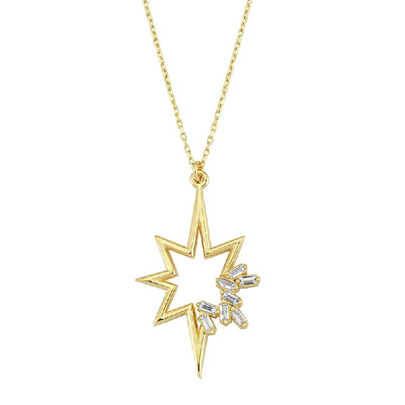 Kutup Yıldızı Figürlü Altın Kolye