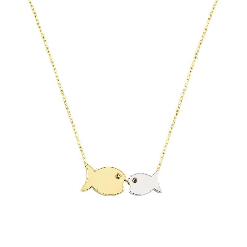 Balık Figürlü Altın Kolye