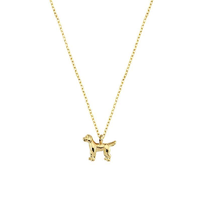 Köpek Figürlü Altın Kolye