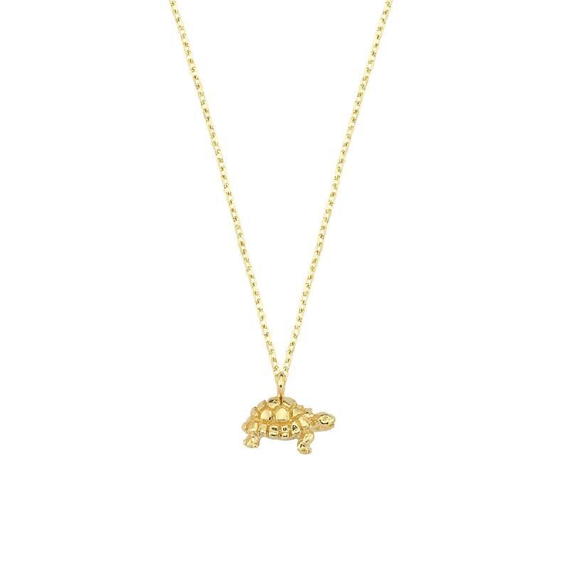 Kaplumbağa Figürlü Altın Kolye