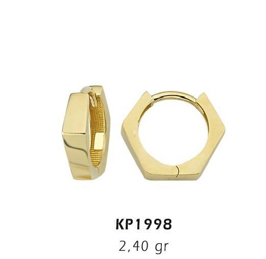 Altın Küpe-Beyaz