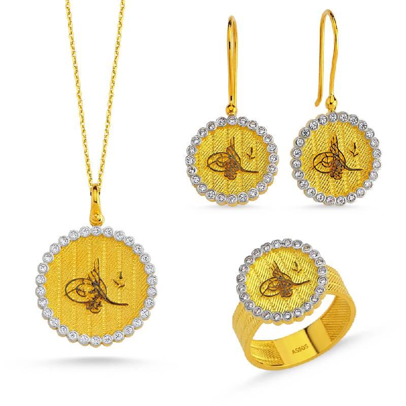 Taşlı Altın Set