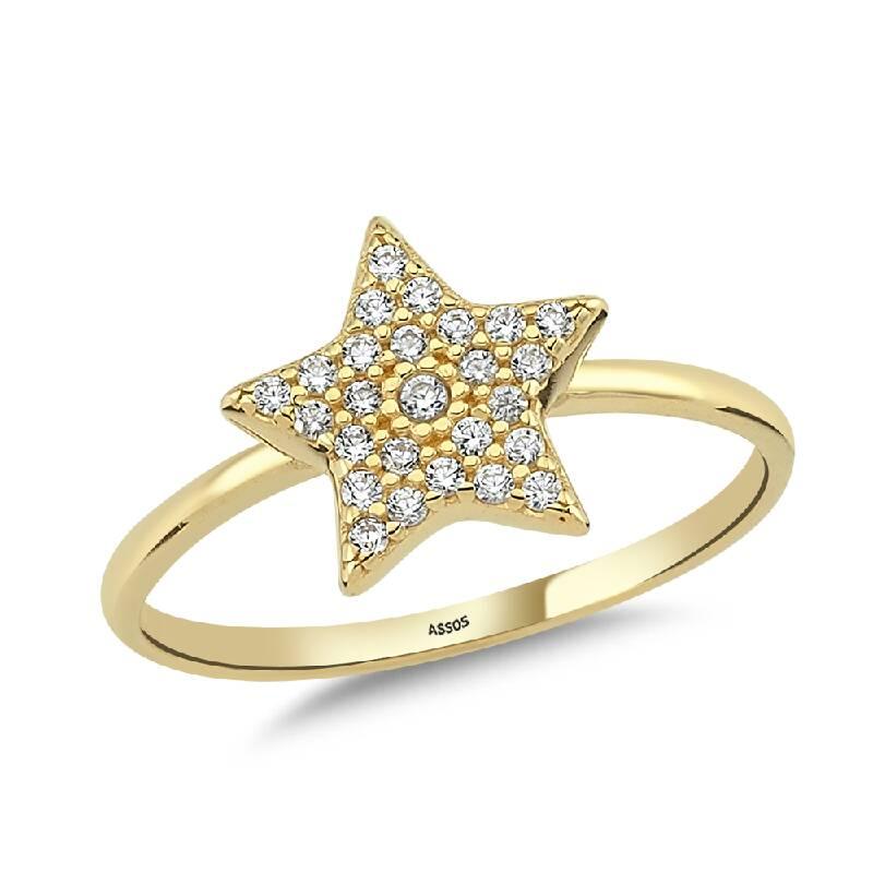 Yıldız Taşlı Altın Yüzük