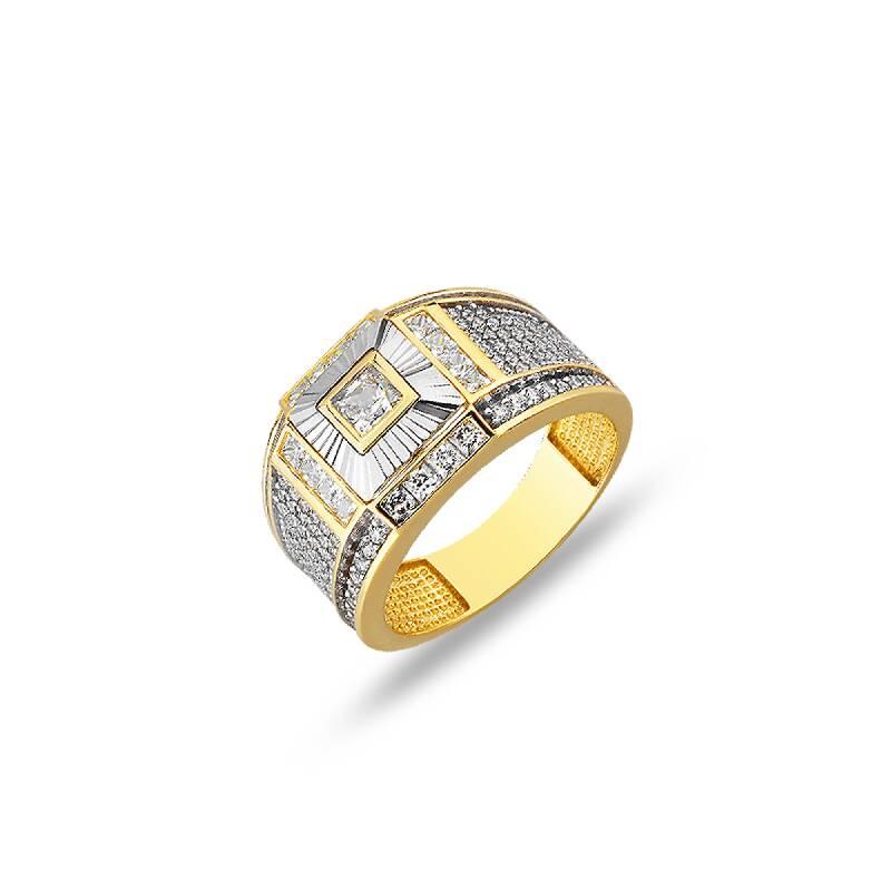 Altın Erkek Yüzük-YZ27159