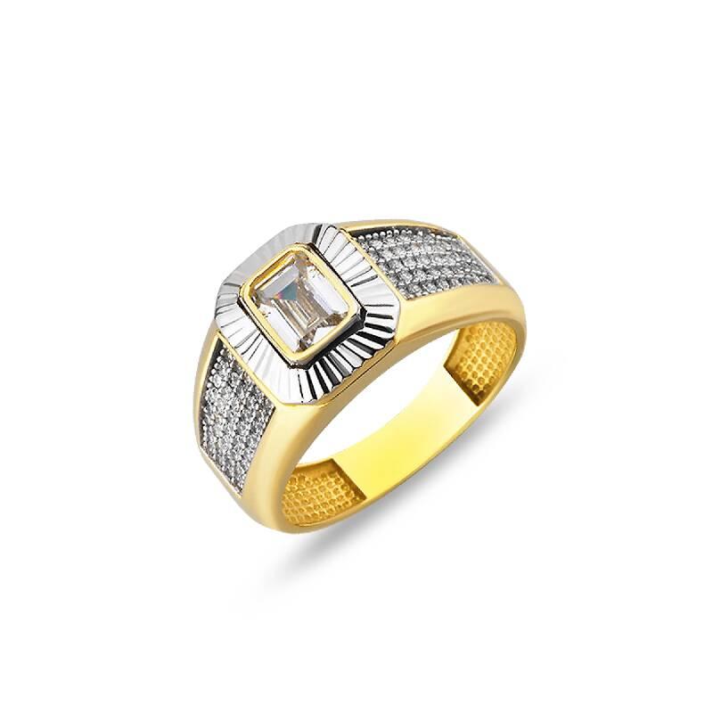 Altın Erkek Yüzük-YZ27160