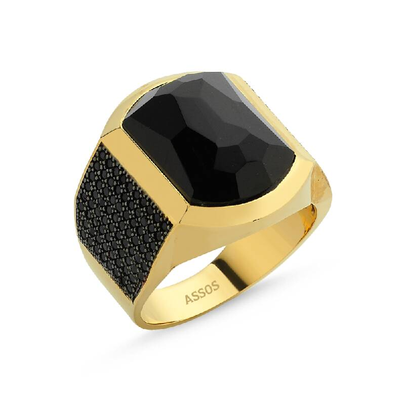 Altın Erkek Yüzük-YZ27332