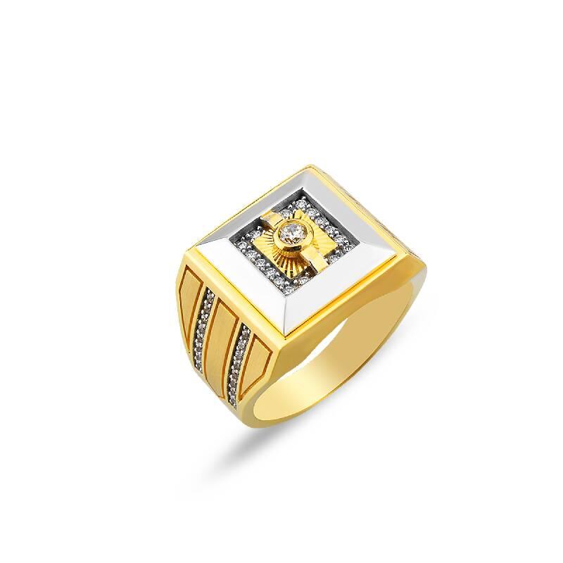 Altın Erkek Yüzük-YZ27376