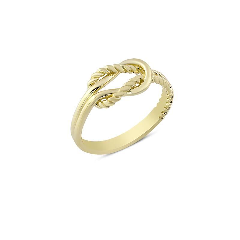 Sevgi Düğümü Altın Yüzük