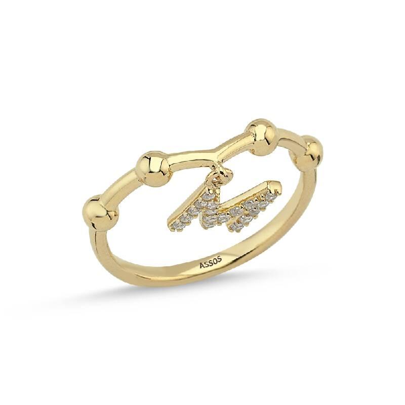 Altın Harf M Yüzük