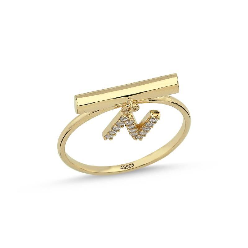 Altın Harf N Yüzük