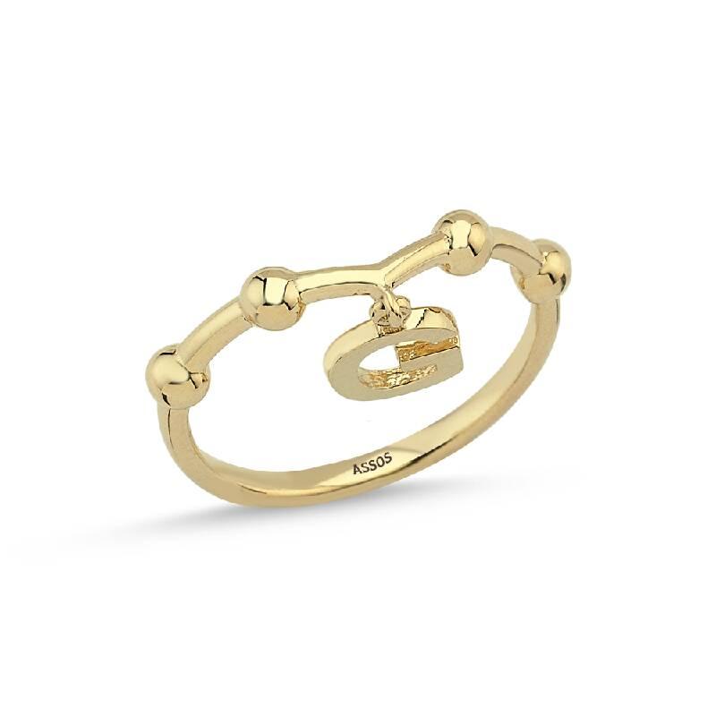 Altın Harf G Yüzük