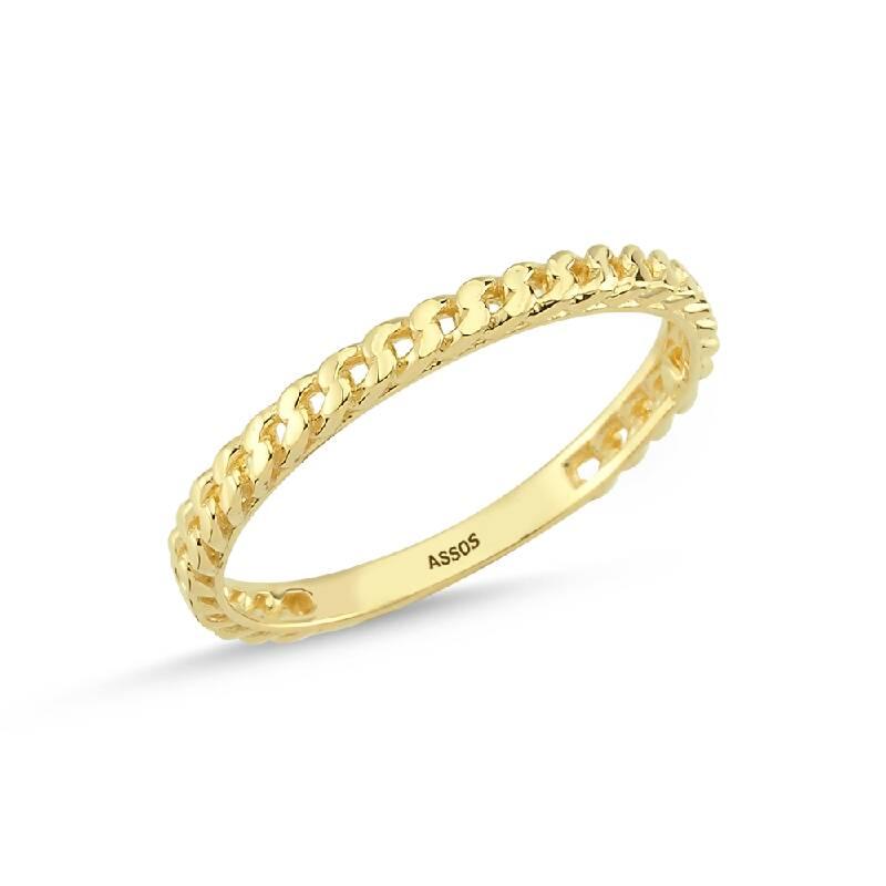 Altın Zincir Formlu Yüzük