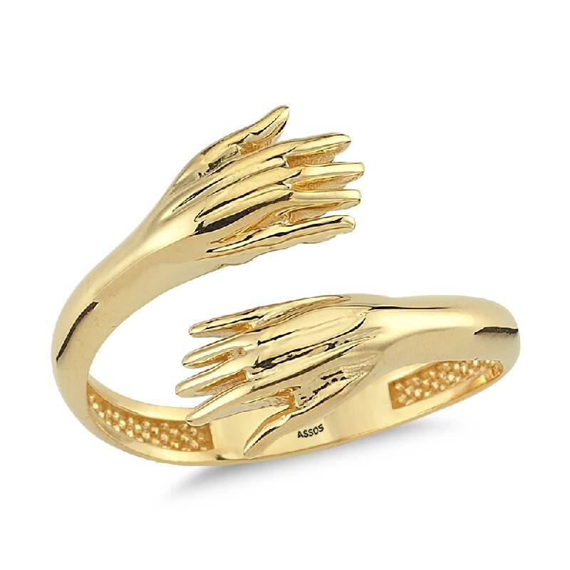 Sevgi Sarmalı Altın Yüzük